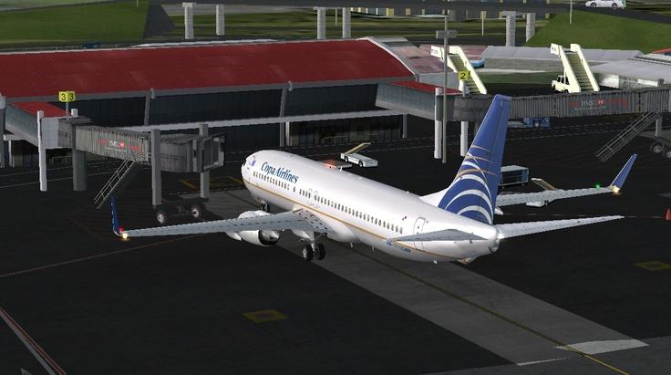 COPA Airlines flight 145 beginning push-back from MROC (Costa Rica) heading to MPTO (Panama City)