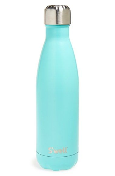 Free shipping and returns on S'well 'Turquoise Blue' Stainless Steel Water Bottle at Nordstrom.com. Stay hydrated in high style with a sleek, double-walled stainless-steel water bottle featuring ThermaS'well™ fabrication that keeps cold drinks cold for up to 24 hours and hot drinks hot for up to 12. Designed to fit in a standard car cup holder, it features a wide mouth that makes it easy to fill, add ice cubes and clean.