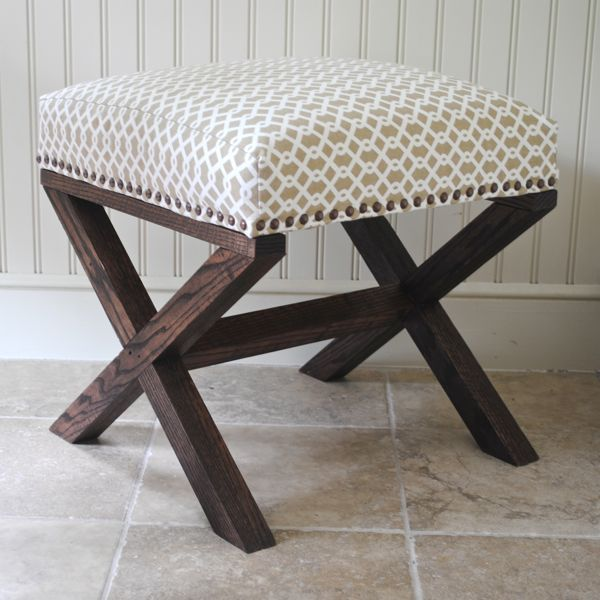 Two for living room? X-Leg Bench 14: Decor, Diy Ideas, Projects, Legs Upholstered, Living Rooms, X Legs, Upholstered Benches, Crafts, Stools