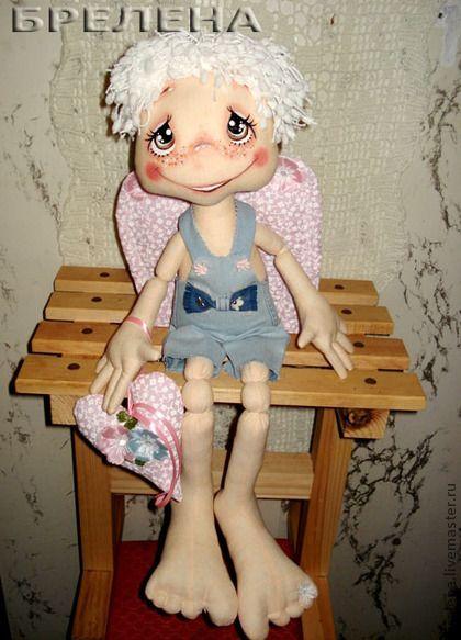 Сказочные персонажи ручной работы. Ярмарка Мастеров - ручная работа Текстильная кукла Офисный ангел. Handmade.