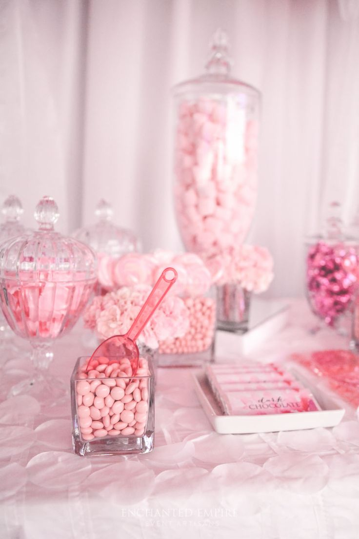 Pink Floral Candy Bar « Enchanted Empire