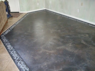 Concrete Floor Painted To Look Like Travertine Step By