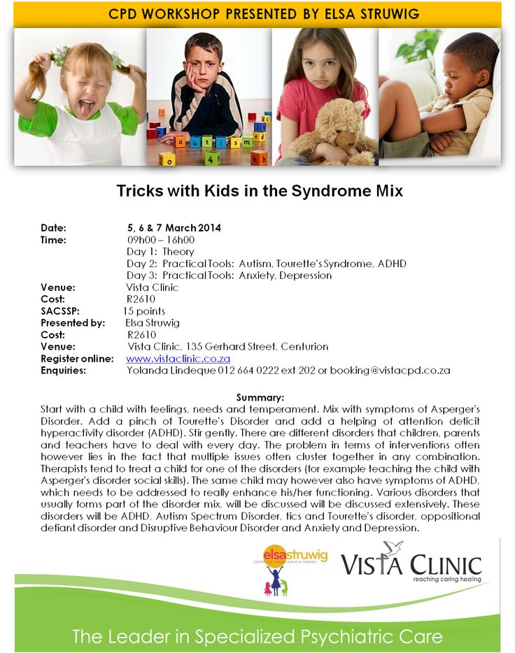 Upcoming CPD Workshop presented by Elsa Struwig Centre for Trauma and Play Therapy. Contact Yolanda Lindeque 012 664 0222 or email booking@vistacpd.co.za