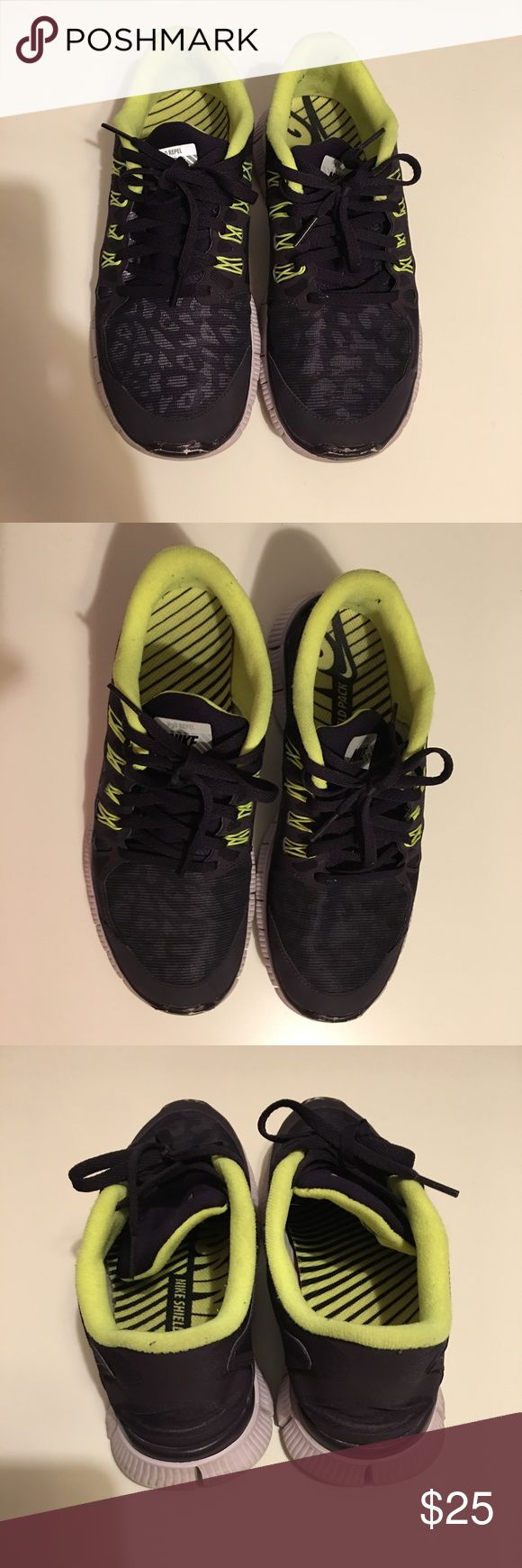 Nike Free 5.0 H2O Repel Running Sneakers Great Condition  No stains or rips  Smoke free environment Women's  Size 9 Color/pattern deep purple cheetah/leopard Nike Shoes Athletic Shoes