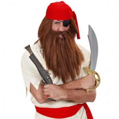 #Barba y #Bigote Vikingo en Rubio Complementa tu #disfraz de #pirata o de #cavernicola con esta perfecta #peluca. Entra en nuestra #tienda de #disfraces #online