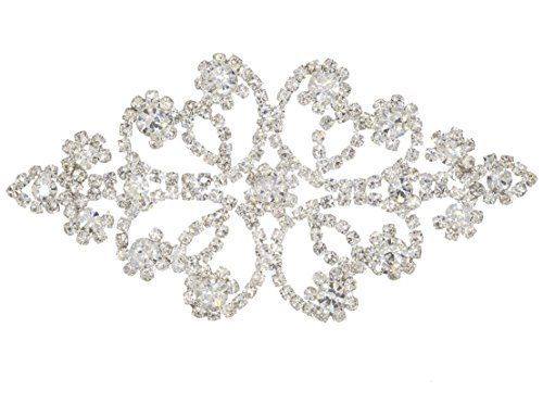 Sew On Diamante Rhinestone Lique For Wedding And Bridal Embellishments Inches Completely Fantastic Beaded With Flexible Silver