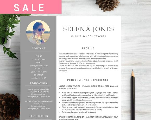 3 in 1 modern Word teacher resume Moderno, Palabras y Currículum - professional reference list