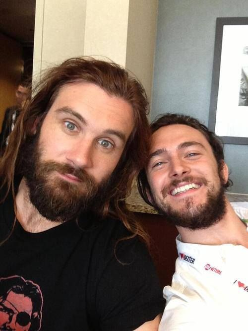 New crushes, Clive Standen and George Blagden. Vikings <3