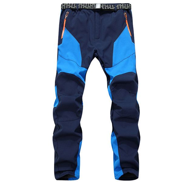 Men's Outdoor Patagonia Twill Cargo Climbing Pants Color Matching Fleece Lined Warm Trousers at Banggood