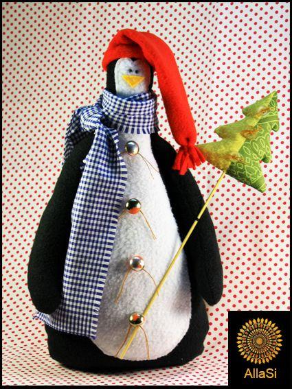 Игрушки животные, ручной работы. Заказать Игрушка интерьерная Пингвин Гаврила. __Алла Сысоева__ Всё для уюта. Ярмарка Мастеров.