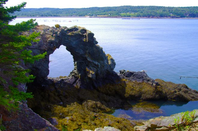 Hole in the Wall on Grand Manan Island, New Brunswick. Paul and I got a flat tire here on our honeymoon and missed our boat back to White Head.
