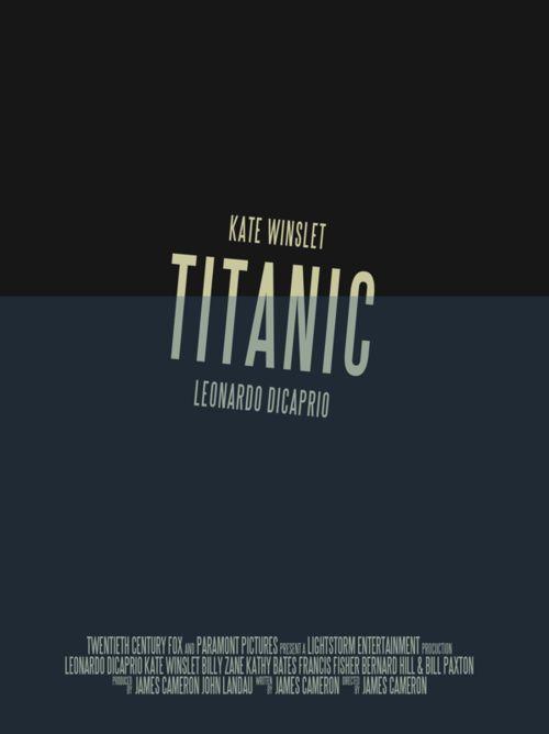Pòster mínimal de Titanic, de Vincent Gabriele.