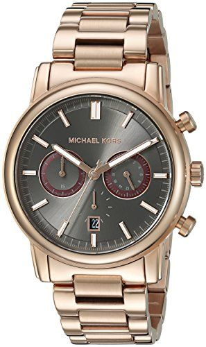 Men's Wrist Watches - Michael Kors Mens Pennant Rose GoldTone Watch MK8370 *** Click image for more details.