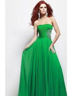 A-line/Princess Geraffte Trägerloser Ausschnitt Floor-length rmellos Chiffon Kleiden