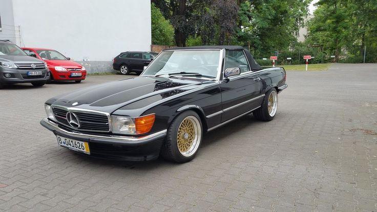 Mercedes 560 SL R107 W107 H-Zulassung Klassiker BBS Tiefschwarz in Auto & Motorr…