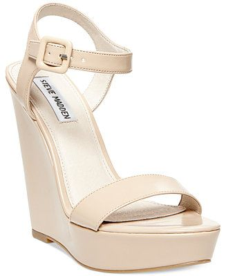 Steve Madden Prestine Two-Piece Platform Wedge Sandals