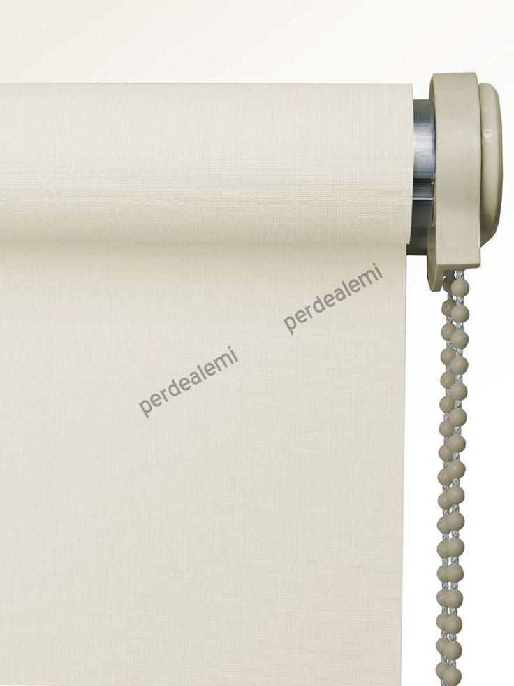 Brillant Mat Polyester Stor Perde (Ekru 5266) | Perdealemi.com