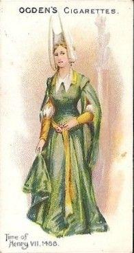 Ogdens British Costumes 100BC to 1904 - Henry VII 1488