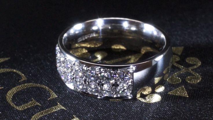 Double Pave Eternity. Collection Mcguire Diamonds