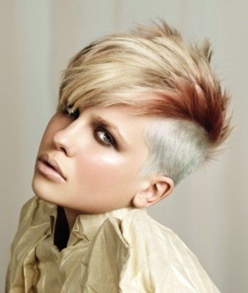 short mohawk hairstyles. sweet coloring.