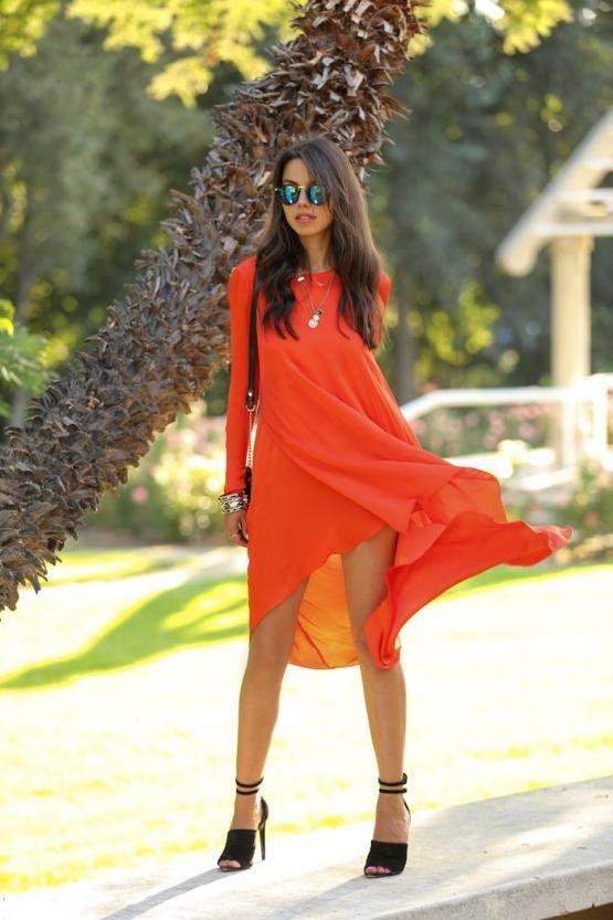 High Low Orange Dress – Lyfie