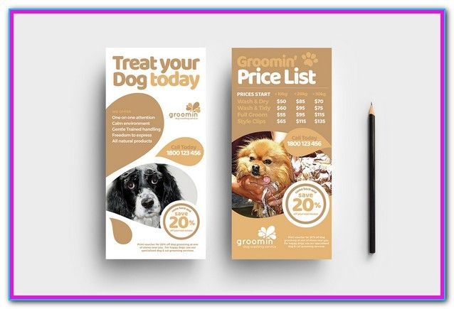 Dog Grooming Price List Template Pet Grooming Services Price List Templates And Dog Spa Menu Templates Easy E Service Animal Animal Free Pet Sitting Flyer