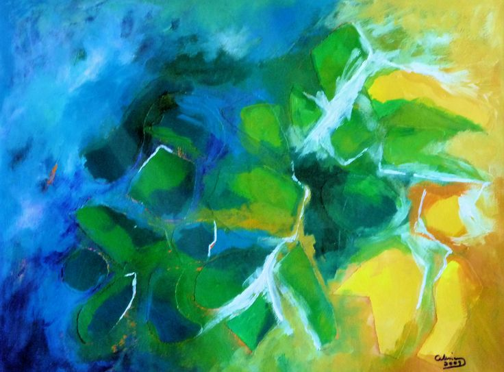 """Coast of Norway"" abstract by Celina Schou"