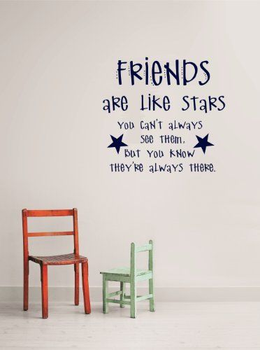 design with vinyl friends are like stars quotes living room picture