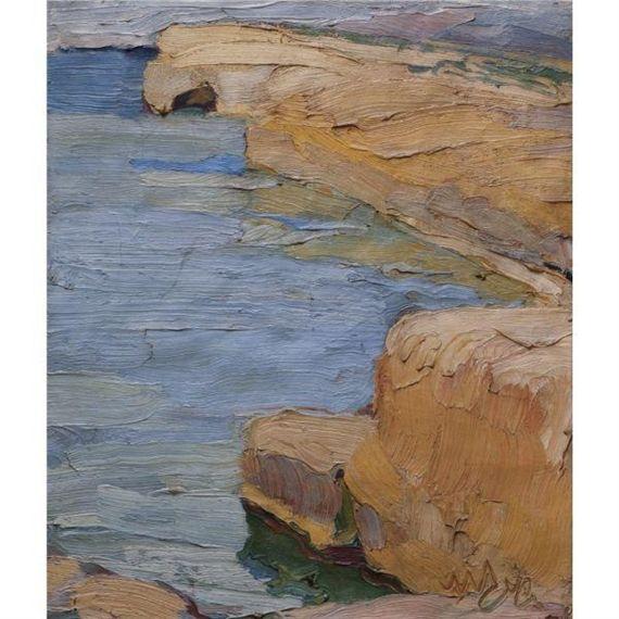 Nikolaos Lytras, a rocky coast