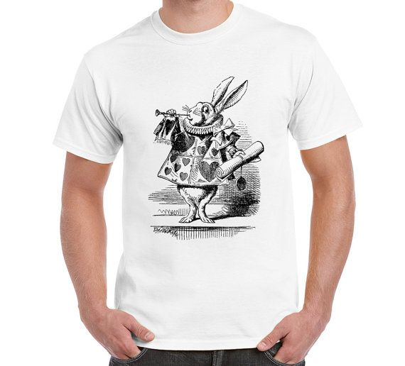 Rabbit T Shirt Alice In Wonderland Alice Lewis by FreakyTshirtShop