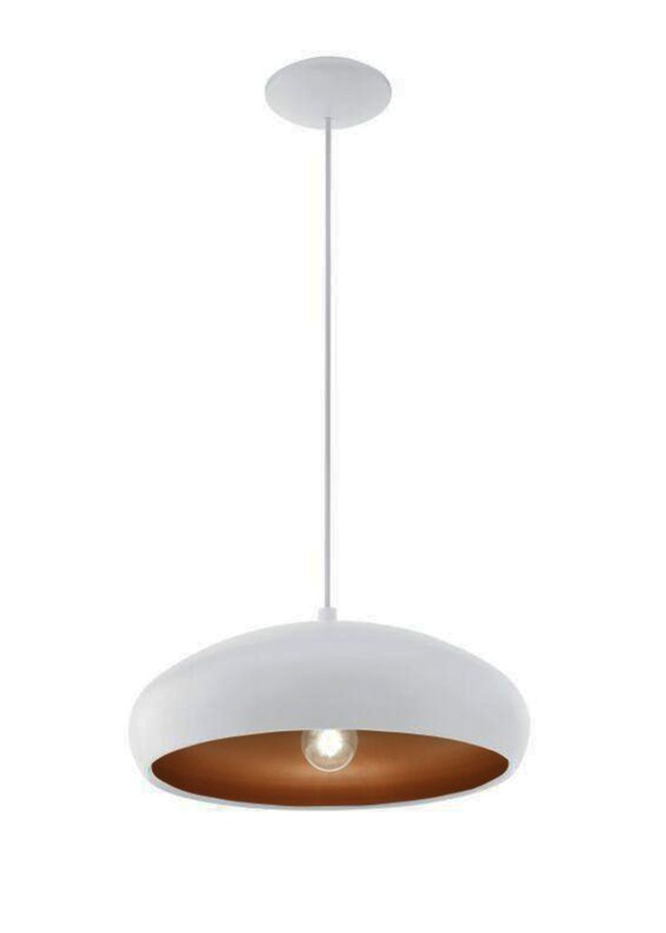 Eglo Mogano 1 Light White Copper