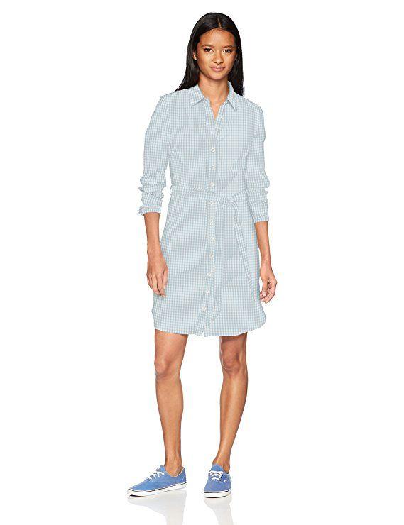 U S Polo Assn Women S Shirt Dress Light Indigo Gingham S Our