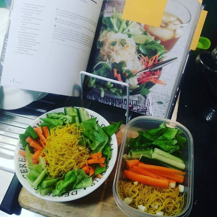 Vietnamese Rice Noodle Salad from the #thugkitchen cookbook. Less than fifteen minutes and lunch today and tomorrow! Hurray!