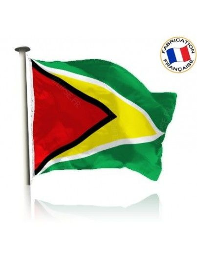 Drapeau Guyana Made In France by Manufêtes