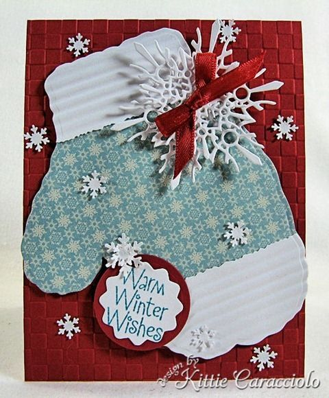 Mitten card: Christmas Cards, Snowflakes Cards, Winter Cards, Greeting Cards, Cards Tags Wraps, Mittens Cards