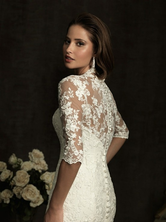 Nice I will get a long sleeve lace wedding dress Call me old school I