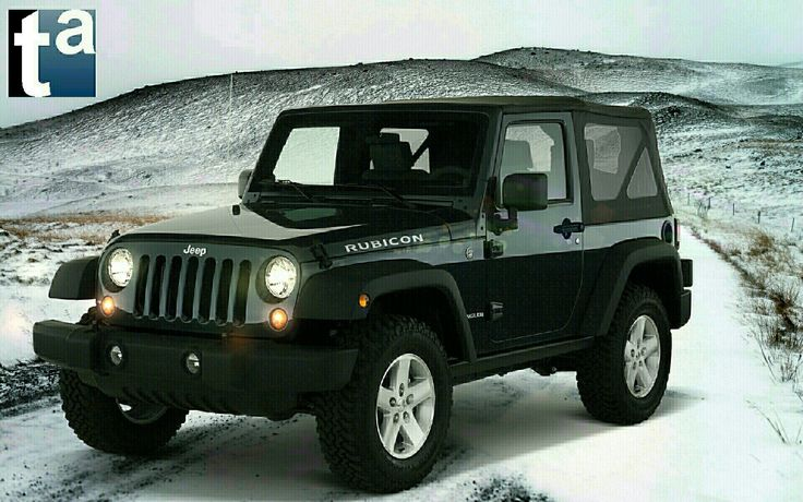 049 - WINTER SCENE  #Jeep #Wrangler Rubicon #SUV 2010 #Automotive
