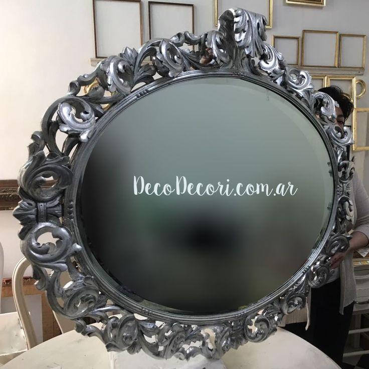 Espejo francés plateado a la hoja | Bricolaje