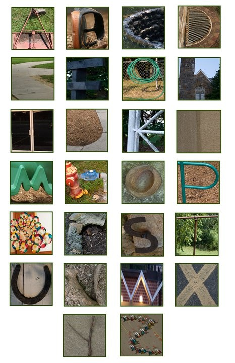 """Photography project: """"found"""" alphabet letters"""