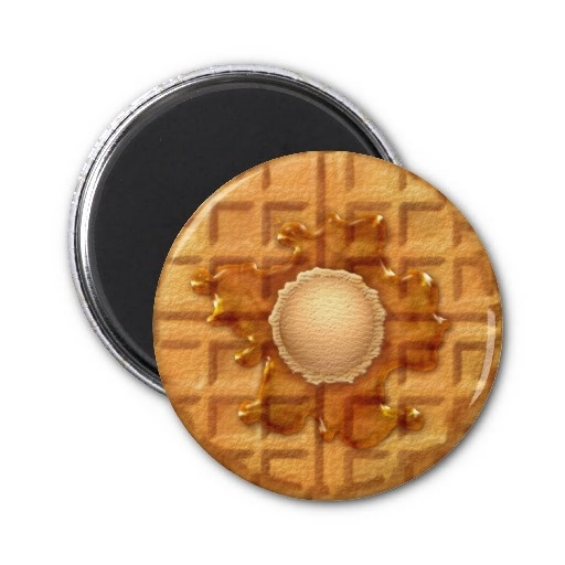Sweets Magnet Series -Waffle and Ice Cream-