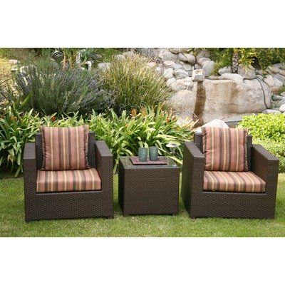 Metro 3 Piece Deep Seating Group with Cushions Fabric: Cameo Brass by AIC Garden & Casual. $802.00. I401-73S-04-A507-C Fabric: Cameo Brass Metro brings contemporary and metropolitan edge to your modern and eclectic outdoor space. This sleek attractive design is complemented by comfortable soft cushions and ample seating room for deep relaxation and hours of lounging under the open sky. City lights and stars are not included but welcomed. Features: -Set includes: Two club...