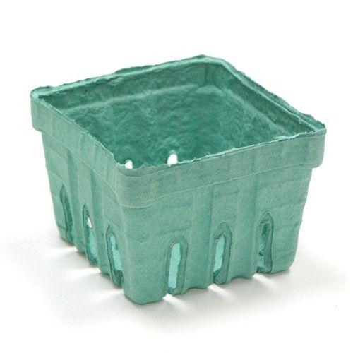 1 Pt Berry Basket-Molded Fiber-Green-Pack of 60