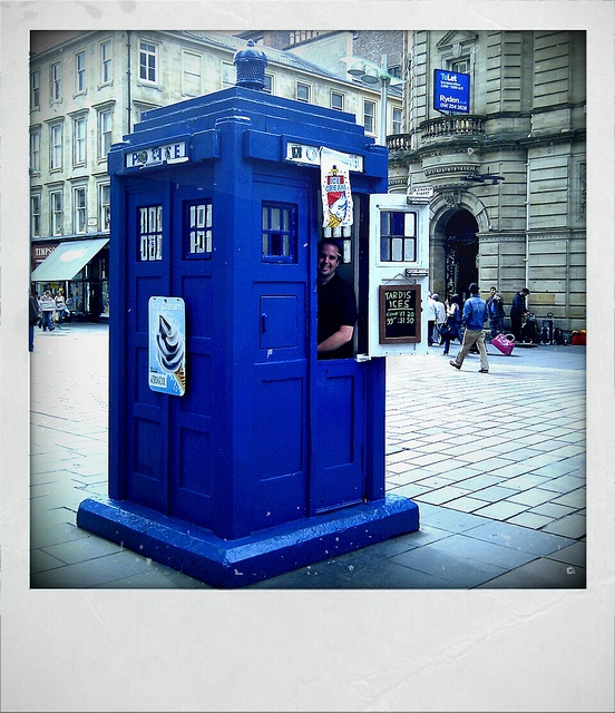 ex-Police box coffee shop in Buchanan Street, Glasgow.