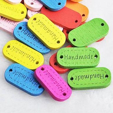 эллиптической ручной альбом scraft швейные DIY Деревянные кнопки (10 шт случайный цвет) – RUB p. 68,65
