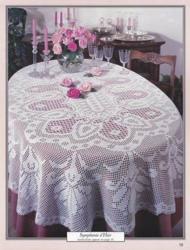 Oval-Tablecloths-American-School-of-Needlework-Crochet-Pattern-Booklet-1253-NEW
