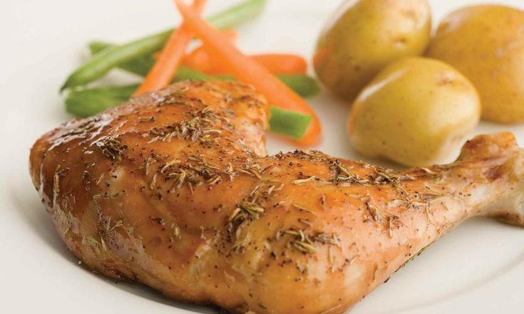 Cuisses de poulet au thym et à l'érable   Le Poulet du Québec
