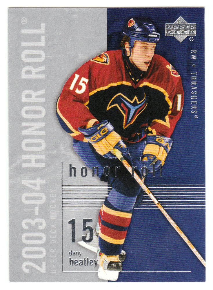 Dany Heatley # 3 - 2003-04 Upper Deck Honor Roll Hockey
