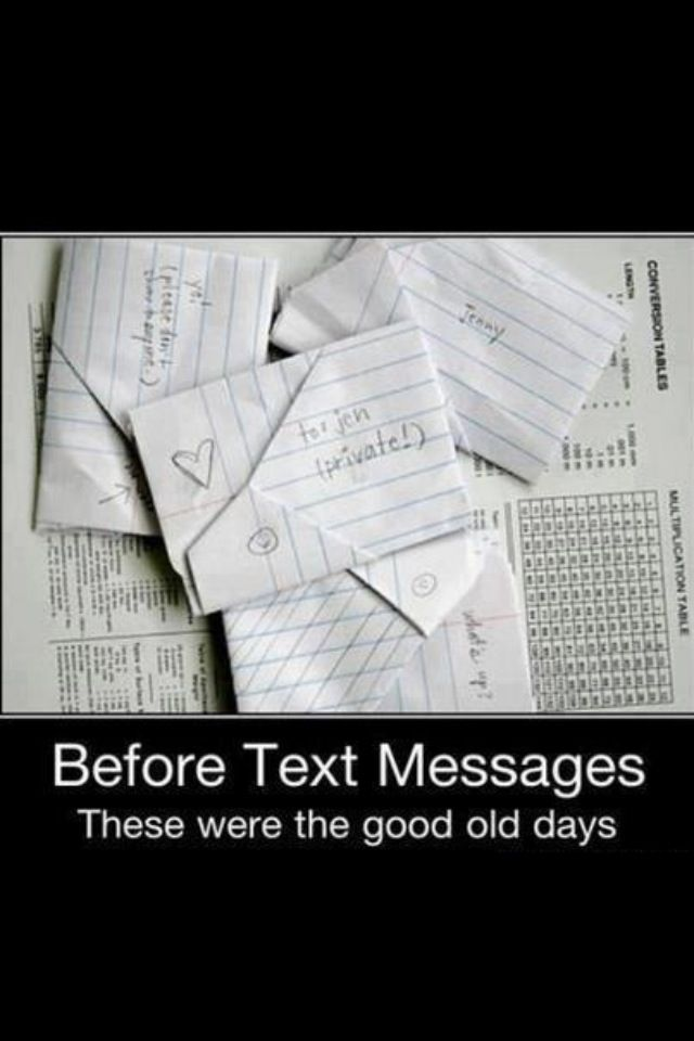 Communication in the 80's. I teach 9th grade and haven't seen a note in YEARS!