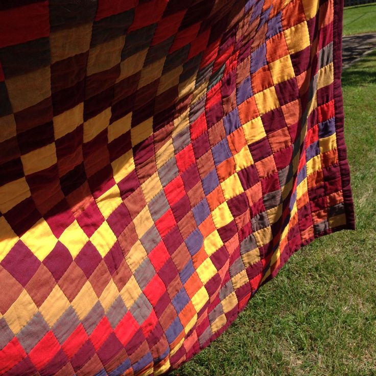 Sunshine and Shadow Quilt for A&Z - harvest colours