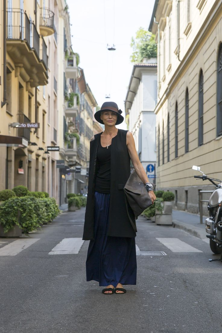 Natalia wears vest by Ilaria Nistri, hat by Nostra Santissima and bag by Daniele Basta.